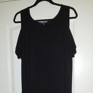 Charlotte Russe black cold shoulder tank. Like new